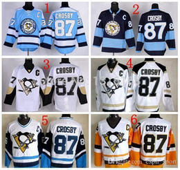 pittsburgh penguins 87 sidney crosby 1993 white with yellow throwback ccm jersey