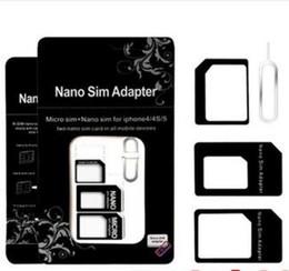 iphone mobile device 2019 - Hot NOOSY Nano Micro Sim Standard Card Convertion Converter4 in 1 Nano Sim Adapter Micro sim Card For Iphone 6 Plus All
