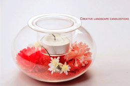 $enCountryForm.capitalKeyWord Canada - Wholesale Fashional Design for Home Decorative Landscape Glass Candle Holders with Size of Dia.11.4cm x Dia.5.2cm x Height7.2cm
