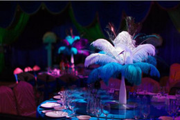 $enCountryForm.capitalKeyWord NZ - Wholesale 30-35cm White black red pink blue yellow green purple rose Ostrich Feather Plumes for Wedding centerpiece table centerpiece