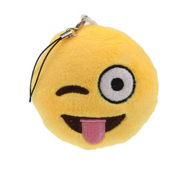 China Modern Soft Cute Emoji Smiley Emoticon Amusing Key Chain Toy Gift Accessory Aug12 cheap soft toys smileys suppliers