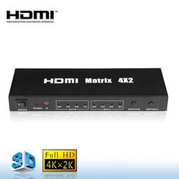 Stereo Matrix Australia - 4x2 HDMI Matrix Switch with Remote Control Splitter 4 input 2 output IR remote Full HD