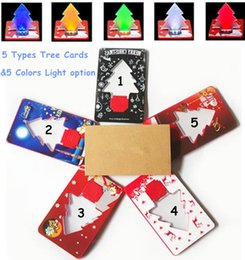 $enCountryForm.capitalKeyWord Australia - 2017 Creative Christmas LED Tree Card Christmas Tree Flashing Pocket Lamp Thin Floding Cards Light Xmas Greeting Gift Novelty Toy DHL Free