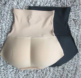 China Charming Female Panties Women High Waist Abundant Buttocks Pants Ladies Padded Model Bottom Body Solid Underwear T26-13 cheap padded buttocks pants suppliers