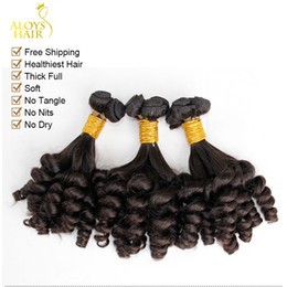 bouncy curly human hair Canada - 3pcs Lot Unprocessed Raw Virgin Mongolian Aunty Funmi Curly Hair Nigerian Style Bouncy Spiral Romance Curls 100% Human Hair Extensions