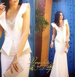 $enCountryForm.capitalKeyWord NZ - 2015 Hot Sale Elegant Evening Dress V Neck Beaded With Peplum Cap Sleeve Prom Dresses vestidos Custom Made Floor Length Party Dresses