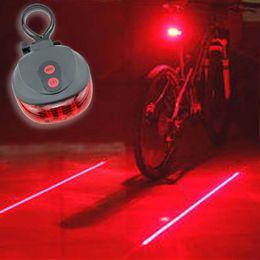 Wholesale 5LED 2Laser Bike Bicycle light 7 Flash Mode Cycling Safety Rear Lamp waterproof Laser Tail Warning Lamp Flashing 5 led 2 laser