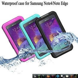 $enCountryForm.capitalKeyWord Canada - Hot Sale Diving Waterproof Plastic Case For Samsung Note 4 Note Edge N9106 Shockproof Swimming Hard PC Soft Silicone Cover Shell Bag