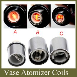 ceramic rods 2019 - Dual Ceramic Wax Coil Rod Replacement Core Head E Cigarette Atomizer Changeable Dual Coil Head for Cannon Bowling Vase G