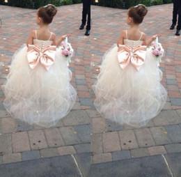 $enCountryForm.capitalKeyWord Canada - 2019 Pageant Dresses For Girls Spaghetti Rhinestone Flower Girl Dresses Big Bow Kids Ball Gowns Wedding Dress Sash Tulle Beading Belt