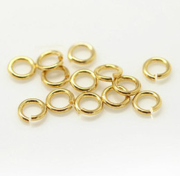 couleur ouvert o anneau fendu anneau saut anneau bijoux trouver accessoire laiton argent or pistolet métal brillant cuivre 3mm 5mm 6mm 500pcs / lot en Solde