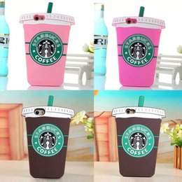Iphone4 backs online shopping - 2016 D Coffee Cup Luxury Brand case Soft Silicone Back For iPhone4 s S c plus