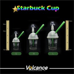 StarbuckS water pipe oil rig online shopping - Male mm mm mm Starbucks Cup Oil Rigs Glass Bongs Glass Water Pipes Recycler Oil Rigs Water Pipe Glass Bong