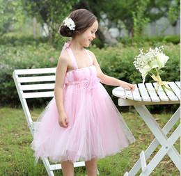 $enCountryForm.capitalKeyWord Canada - 2015 Organza Suspender Flower Lace Wedding Gauze Chiffon Veil Tutu Kids Clothes Tank Full Dress Children Formal Dresses Pink D4870