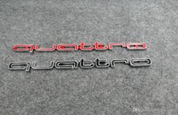 Venta al por mayor de Alta calidad insignia del emblema del logotipo de Quattro coche palo ABS pegatinas parrilla delantera ajuste inferior para Audi A4 A5 A6 A7 RS5 RS6 RS7 RS Q3