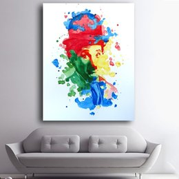 Art Canvas Prints Australia - 1 Pcs Abstract Watercolor Charlie Art Prints Poster Wall Pictures Canvas Painting For Living Room Decor No Framed
