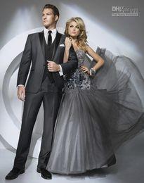 Dark Grey Suit Wedding - Suit La
