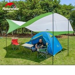 Wholesale- Naturehike Ultralight C&ing Tarp Anti-UV Sun Shelter Awning Canopy Beach Tent Large Beach Shade with Poles & Discount Large Beach Sun Shade   2018 Large Beach Sun Shade on ...