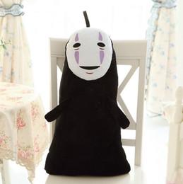 Miyazaki Plush Toys NZ - Free shipping 60cm Anime Cartoon Miyazaki Hayao Spirited Away No Face Plush Toy Soft Stuffed Animal Doll