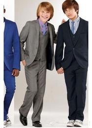 $enCountryForm.capitalKeyWord Canada - New Arrival Charcoal Boy Suits Tuxedo Notch Lapel Formal Wedding Dress(Jacket+Vest+Pants+Tie)