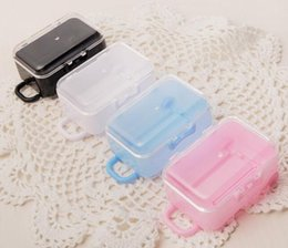 Plastic Packaging box food online shopping - 600pcs Housekeeping Hot Clear Mini Rolling Travel Suitcase Favor Box Wedding Favors Party Reception Candy Package Baby Shower Ideas