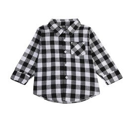 $enCountryForm.capitalKeyWord UK - Fashion Baby Kids Boy Girl Long Sleeve Shirt Plaids Checks Long Sleeve Tops Blouse Casual Clothes High quality School Kids Clothing 1-7T
