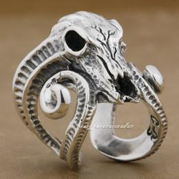 $enCountryForm.capitalKeyWord Canada - Large Ran Skull Horn Aries 925 Sterling Silver Mens Biker Rocker Ring 8E003 US Size 8 to 12 Free Shipping