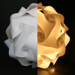 Pendant Light Ceiling Diy Australia - White 25cm 30cm 40cm Modern DIY Elements IQ Jigsaw Puzzle ZE Lamp Ceiling Chandelier Pendant Lamp Ball Light Lighting 110-240V