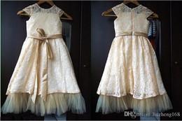 $enCountryForm.capitalKeyWord Canada - 2015 NEW Hot New flower girl dress, ,Wedding Dress,Princess Lace Bow Trimmed Baby Girl, Birthday Party, Flower Girl Dress Lace Dress.