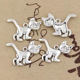 $enCountryForm.capitalKeyWord Canada - 60pcs Charms cat 30*22mm Antique,Zinc alloy pendant fit,Vintage Tibetan Silver,DIY for bracelet necklace