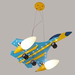 bedroom pendant light children NZ - Wooden Plane Children Pendant Light Cute Boy's Room Pendant Lamps Kid's Bedroom Baby Room Hanging Lights