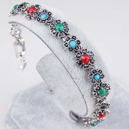 $enCountryForm.capitalKeyWord Canada - 2016 summer newarrival colorful bracelet silver jewelry inlaid flowers popular in Europe and US Free shipping
