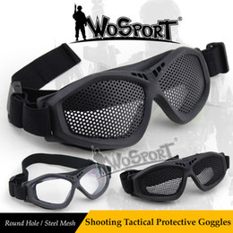 $enCountryForm.capitalKeyWord NZ - WoSporT NEW Tactical Shooting Steel Net Mesh Eye Protective Goggles Outdoor Airsoft CS Field Game Combat Sunlasses