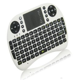wireless keyboard touchpad for tv UK - DHL Mini Wireless keyboard Rii Mini i8 Wireless Keyboards Mouse with Touchpad for PC Pad Andriod TV Box include rechargeable battery