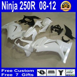$enCountryForm.capitalKeyWord NZ - All white fairing for KAWASAKI Ninja 250 ZX250R ZX 250R 2008 2009 2010 2011 EX250 08 09 10 11