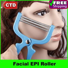 Rouleau D'épilation Pas Cher-Gros-2pcs / lot Painless Facial Rouleau EPI Epilateur Epilation Dispositif Remover brucelles Facial Pro Maquillage Tondeuse