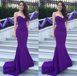 2017 petite wedding guest dresses cheap eggplant purple formal dresses evening wear long mermaid sweetheart sleeveelss