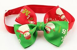 Tie Necktie Bow Dogs Canada - 50pc lot Christmas Holiday Dog Bow Ties Cute Neckties Collar Pet Puppy Dog Cat Ties Accessories Grooming Supplies P88