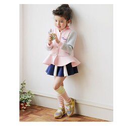 $enCountryForm.capitalKeyWord Canada - Girls Coat 2015 Autumn New Korean Clothing Long Sleeved Love Letters Jackets Adorable Cotton Kids Outwear Pink Blue Children Girl Coat 9057