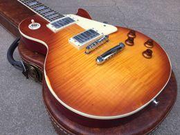 $enCountryForm.capitalKeyWord Australia - Custom Shop Billy G Tribute Figured Flame Maple Top Aged 1959 Relic Elecitrc Guitar Cherry Sunburst Finish Collectors Choice #1 Top Selling