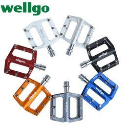 """$enCountryForm.capitalKeyWord Canada - WELLGO KC008 Bike Bicycle Ultralight Aluminum Extruted Platform Pedals 9 16"""" Spindle Sealed Bearing for Road Bike MTB BMX DH"""