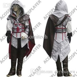 Cosplay Enfants Ezio Pas Cher-Creed Ii Ezio Costume de gros-For Kids gros Hot vendre Assassin, cosplay costume Creed Assassins --- Livraison gratuite