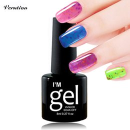 Laca De Gel Barato Baratos-Comercio al por mayor- Verntion Queso UV Nail Gel Polish Soak Off Ice Cream Led Gel de Uñas necesidad de la laca Led Lamp Pegamento Vernis semi permanente UV gel barato
