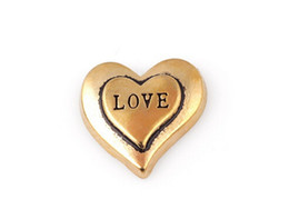 China 20PCS lot Gold Color Love Word Letter Charm, DIY Heart Floating Locket Charms Fit For Glass Memory Locket cheap wholesale memory lockets charms suppliers