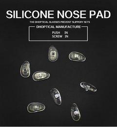 coussin de nez en silicone, lunettes nez coussin 1000pcs lunettes partie vis en pousser