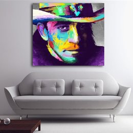 Art Canvas Prints Australia - 1 Panel Famous Guiter Master Stevie Ray Vaughan Wall Art Pictures HD Printed Modular Poster Paints Canvas Painting For Home Decor No Framed