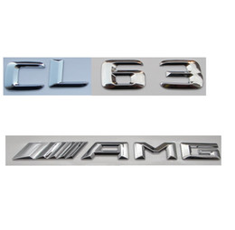$enCountryForm.capitalKeyWord Canada - Chrome Number Letters Trunk Emblem Badge Sticker for Mercedes Benz CL63 AMG 2017