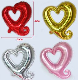 red heart decorations Canada - 18 Inch Aluminum Foil Heart Balloon Pink Silver Gold Red Option Best For Wedding Birthday Christmas Party Decoration Wholesale