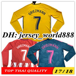 aaa9a8080 TOP QUALITY 17 18 GRIEZMANN KOKE GABI soccer jersey Long sleeve HOME away  3rd RED F TORRES AWAY GODIN CUSTOM CARRASCO SAUL Football shirts
