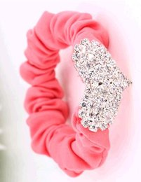 Chinese  2014 luxry charms Crystal women gemstone Non-woven Hair Rubber Bands head hoop hair accessories Set auger crystal hair bands manufacturers